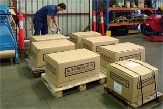 Packing Hydrostatic Transmission Units for dispatch